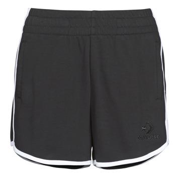 textil Mujer Shorts / Bermudas Converse TWISTED VARSITY SHORT Negro