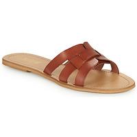 Zapatos Mujer Zuecos (Mules) So Size MELINDA Camel