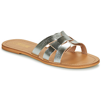 Zapatos Mujer Zuecos (Mules) So Size MELINDA Plateado