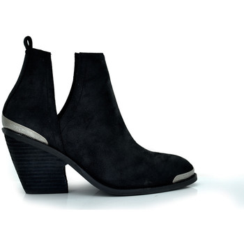 Zapatos Mujer Botines Exé Shoes BOTÍN CAMPERO TACÓN BLACK WEST-588 Color Negro