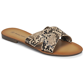 Zapatos Mujer Zuecos (Mules) Moony Mood MADISON Serpiente