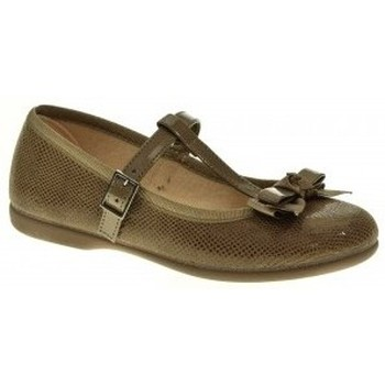 Zapatos Niña Bailarinas-manoletinas Tokolate MANOLETINA NIÑA  TAUPE Marrón