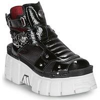 Zapatos Mujer Sandalias New Rock LIYA Negro / Blanco