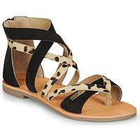 Zapatos Mujer Sandalias Les Tropéziennes par M Belarbi POPS Negro / Leopardo