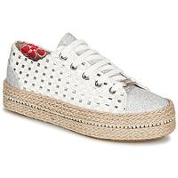 Zapatos Mujer Zapatillas bajas Café Noir MERYOU Blanco / Plateado