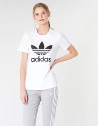 textil Mujer Camisetas manga corta adidas Originals TREFOIL TEE Blanco