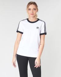 textil Mujer Camisetas manga corta adidas Originals 3 STR TEE Blanco