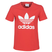 textil Mujer Camisetas manga corta adidas Originals TREFOIL TEE Rojo / Exuberante