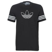 textil Hombre camisetas manga corta adidas Originals OUTLINE TEE Negro