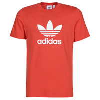 textil Hombre camisetas manga corta adidas Originals TREFOIL T-SHIRT Rojo / Exuberante