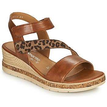 Zapatos Mujer Sandalias Remonte Dorndorf HERNENDEZ Cognac / Leopardo