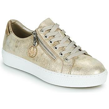 Zapatos Mujer Zapatillas bajas Rieker LIROS Oro