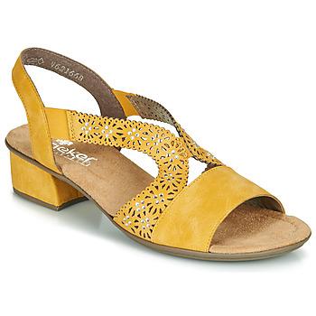 Zapatos Mujer Sandalias Rieker NOUCK Amarillo