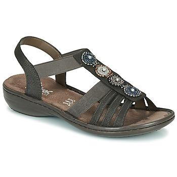 Zapatos Mujer Sandalias Rieker ANOUCK Negro