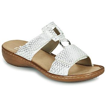 Zapatos Mujer Zuecos (Mules) Rieker MOLLY Plata
