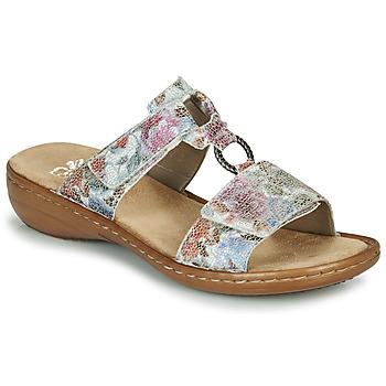 Zapatos Mujer Zuecos (Mules) Rieker MOLA Multicolor