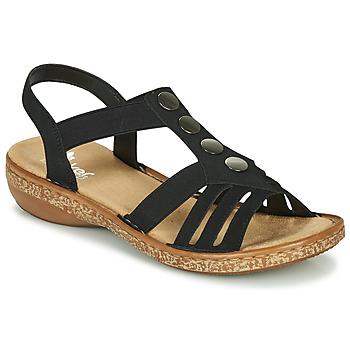 Zapatos Mujer Sandalias Rieker NEX Negro