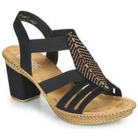 Zapatos Mujer Sandalias Rieker ROOT Negro