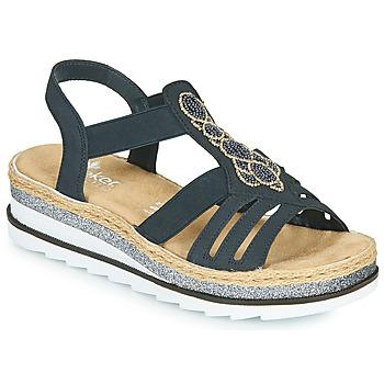 Zapatos Mujer Sandalias Rieker LOUANN Negro