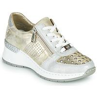 Zapatos Mujer Zapatillas bajas Rieker LEA Oro / Plata