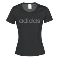 textil Mujer camisetas manga corta adidas Performance D2M LO TEE Negro