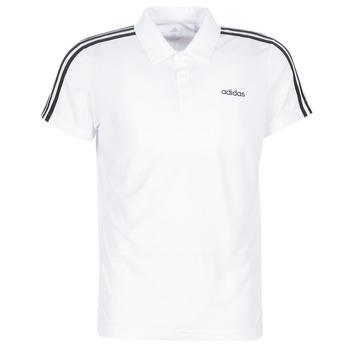 textil Hombre Polos manga corta adidas Performance M D2M CLA 3S PO Blanco