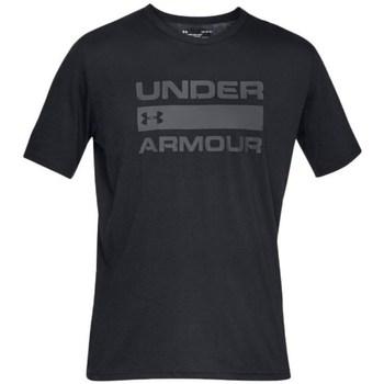 textil Hombre camisetas manga corta Under Armour Team Issue Wordmark Negros