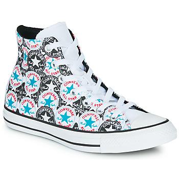 Zapatos Mujer Zapatillas altas Converse CHUCK TAYLOR ALL STAR LOGO PLAY Blanco / Negro / Multiple
