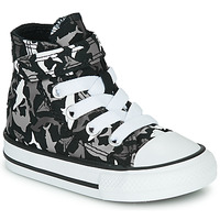 Zapatos Niño Zapatillas altas Converse CHUCK TAYLOR ALL STAR 1V SHARK BITE Negro / Multiple