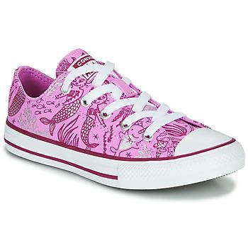Zapatos Niña Zapatillas altas Converse CHUCK TAYLOR ALL STAR UNDERWATER PARTY Rosa / Multiple