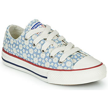 Zapatos Niña Zapatillas altas Converse CHUCK TAYLOR ALL STAR LITTLE MISS CHUCK Azul / Multiple