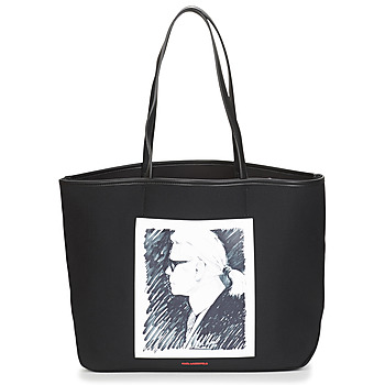 Bolsos Bolso shopping Karl Lagerfeld KARL LEGEND CANVAS TOTE Negro