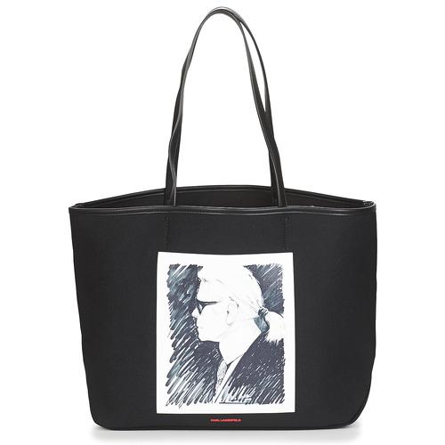Bolsos Bolso shopping Karl Lagerfeld KARL LEGEND CANVAS TOTE Negro