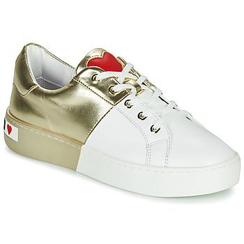 Zapatos Mujer Zapatillas bajas Love Moschino BI-COLOR SHOES Blanco / Oro