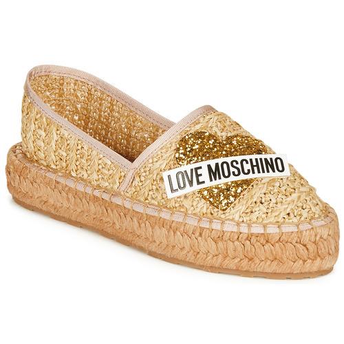 Zapatos Mujer Alpargatas Love Moschino  Beige