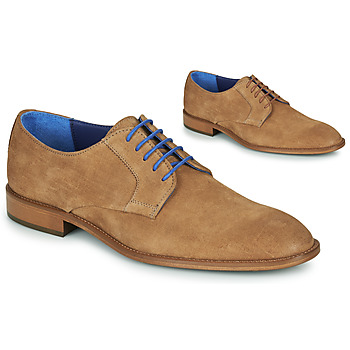 Zapatos Hombre Derbie Azzaro ZENOU Cognac
