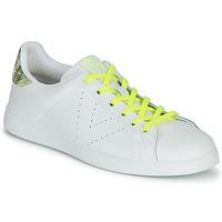 Zapatos Mujer Zapatillas bajas Victoria TENIS PIEL FLUO Blanco / Amarillo
