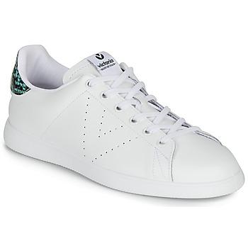Zapatos Mujer Zapatillas bajas Victoria TENIS PIEL SERPIENTE Blanco / Azul