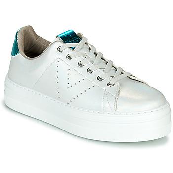 Zapatos Mujer Zapatillas bajas Victoria BARCELONA METAL Blanco
