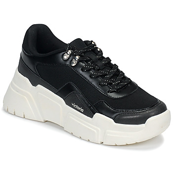Zapatos Mujer Zapatillas bajas Victoria TOTEM Negro / Blanco