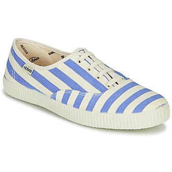 Zapatos Mujer Zapatillas bajas Victoria NUEVO RAYAS Blanco / Azul