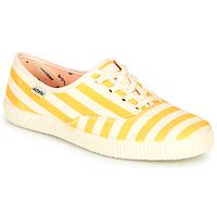 Zapatos Mujer Zapatillas bajas Victoria NUEVO RAYAS Amarillo / Blanco