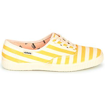 Victoria NUEVO RAYAS Amarillo / Blanco - Envío gratis    - Zapatos Deportivas bajas Mujer 3600