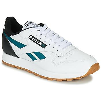 Zapatos Hombre Zapatillas bajas Reebok Classic CL LEATHER MU Blanco / Negro