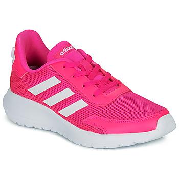 Zapatos Niña Zapatillas bajas adidas Performance TENSAUR RUN K Rosa / Blanco