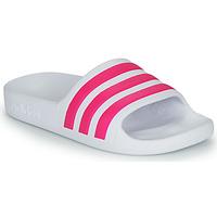 Zapatos Niña Chanclas adidas Performance ADILETTE AQUA K Blanco / Rosa