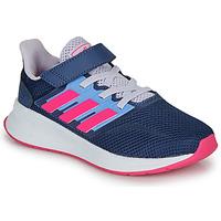 Zapatos Niña Zapatillas bajas adidas Performance RUNFALCON C Azul / Rosa