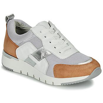 Zapatos Mujer Zapatillas bajas Caprice BEBENE Blanco / Camel