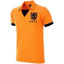 textil Hombre Camisetas manga corta Copa Football Maillot rétro Pays-Bas 1983 orange