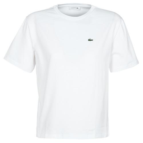 textil Mujer Camisetas manga corta Lacoste BENOIT Blanco